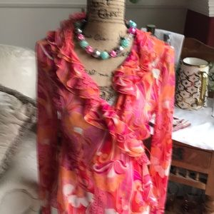 A fabulous fun and Floridian ladies blouse.